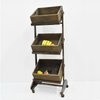 High quality Large Rustic wooden supermarket fruit and vegetable display rack