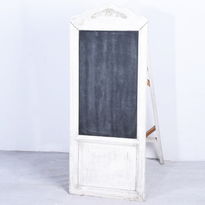 Shabby Chic Rustic White Decorative Wooden Blackboard Stand