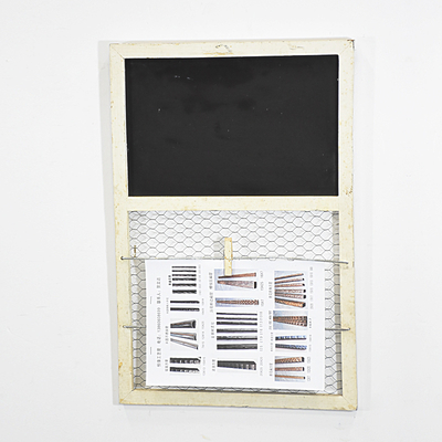 Shabby Chic White Handmade Chicken Wire Memo Board