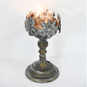 Vintage Metal Pedestal mini Decorative Desktop Lamp with Led