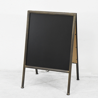 Vintage Double Sided A Frame Metal Chalkboard Easel