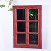 Rustic Farm House Red Window Shutter Wall Vanity Window Mirror