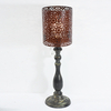 French Candlestick industrial Metal Frame Shade Unique Table Lamp