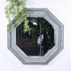 Vintage Octagon French Country Distressed Wooden Wall Mirror for Home Deocration