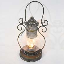 Vintage Antique Led Hurricane Lantern