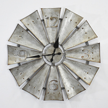 Rustic Farmhouse Antique Style Windmill Fan Wall Clock