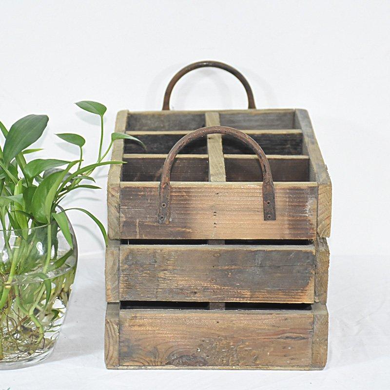 Wholesale Metal Handles Farmhouse Decor Reclaimed Rustic Wooden Wine Crate Buy Wine Crate Wooden Wine Crate Crate Product On Home Decor Home Furniture Garden Luckywind Handicrafts