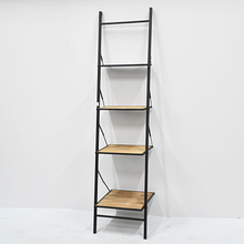vintage industrial wooden metal ladder bookshelf