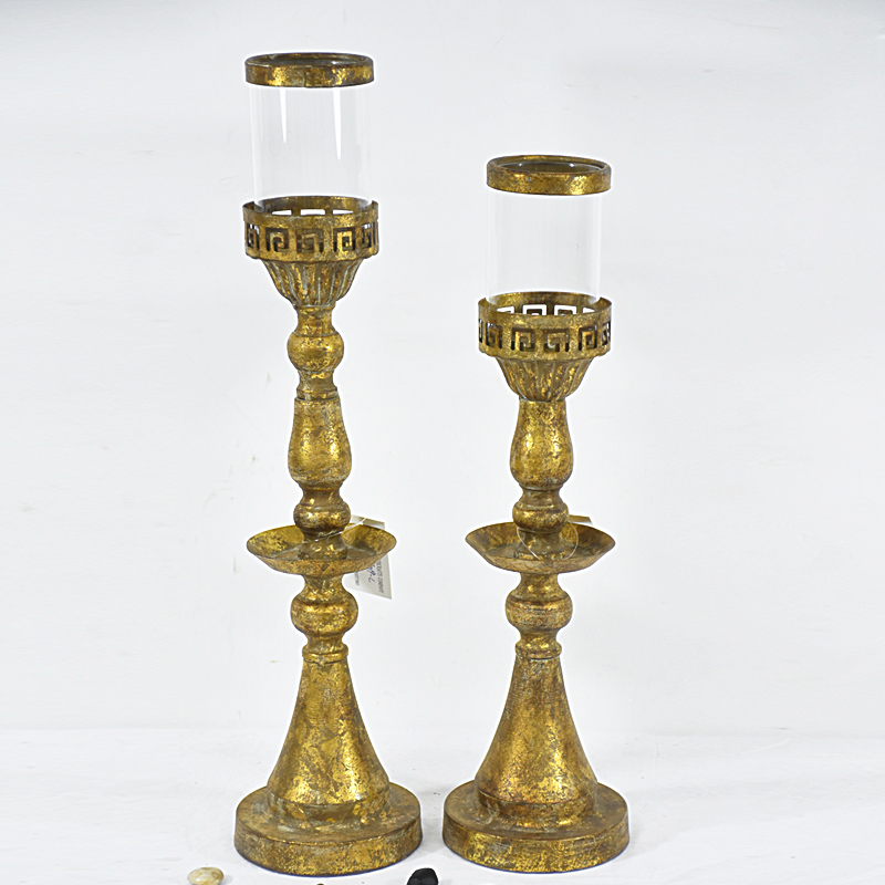 Antique vintage Golden Decorative Metal Wedding Candlestick Candle Holder