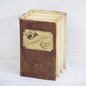 Vintage Antique Fabri Wooden Book Box for Home Decoration