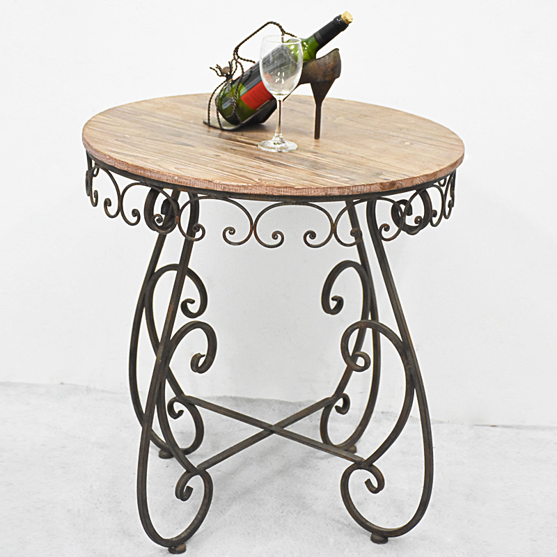 shabby chic rustic Distressed wooden Bistro table