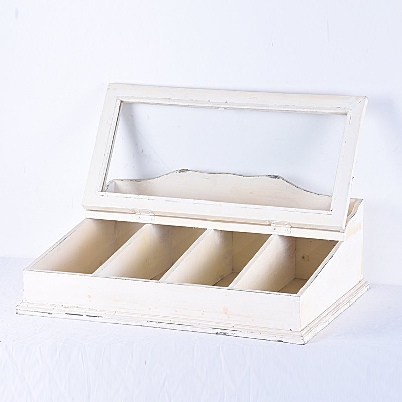 Shabby Chic Vintage Wooden Cutlery Box