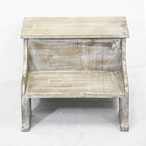 Vintage Rustic Country Style Wood Storage Step Stool