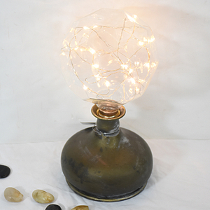 Vintage handmade design metal design table led lamps
