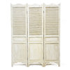 Luckywind Hand-painted Shabby Chic French Country Wooden Folding Screen Room Divider