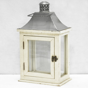 Rustic White Wooden Hurricane Candle Lantern for Wedding Or Wall Hanging, Solid Wood Lantern Wedding Table Centerpieces